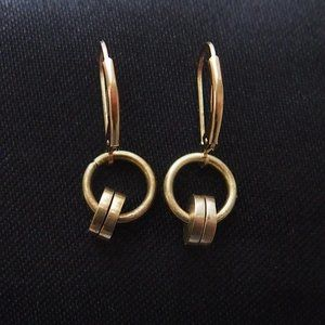 1/20 14k Yellow Gold VTG Hoop Circle Earrings
